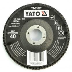 Tarcza ściernica listkowa Yato YT-83292 - wypukła - 125x8mm