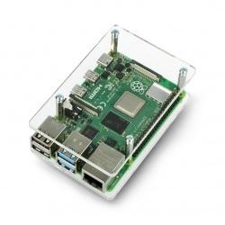 Obudowa Raspberry Pi Model 3/2/B+ - przezroczysta otwarta