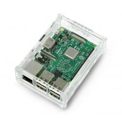 Obudowa Raspberry Pi Model 3B+/3B/2B przezroczysta