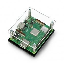 Obudowa Raspberry Pi 3 Model A+ czarno-przeźroczysta otwarta