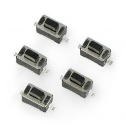 Tact Switch 3,5x6, 5mm czarny SMD - 5szt.