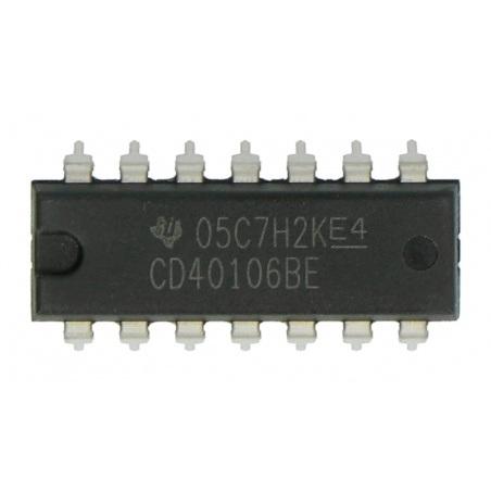 Układ logiczny CD40106BE - 6x inwerter z przerzutnikiem Schmitta - 5szt.