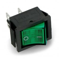 Wyłącznik On-Off MK621 12V/20A - zielony