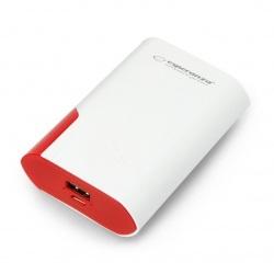 Mobilna bateria PowerBank Esperanza EMP111WR Boson 6000mAh - biało-czerwony
