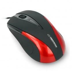 Mysz optyczna Esperanza EM-102R - czerwona