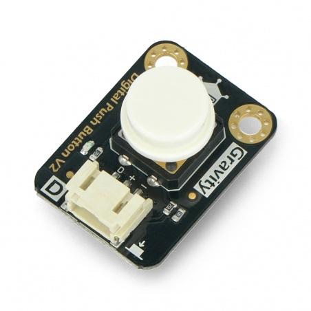 DFRobot Gravity  - cyfrowy przycisk Tact Switch - biały