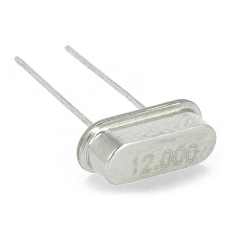 Rezonator kwarcowy 12MHz - HC49 - niski - 10 szt.