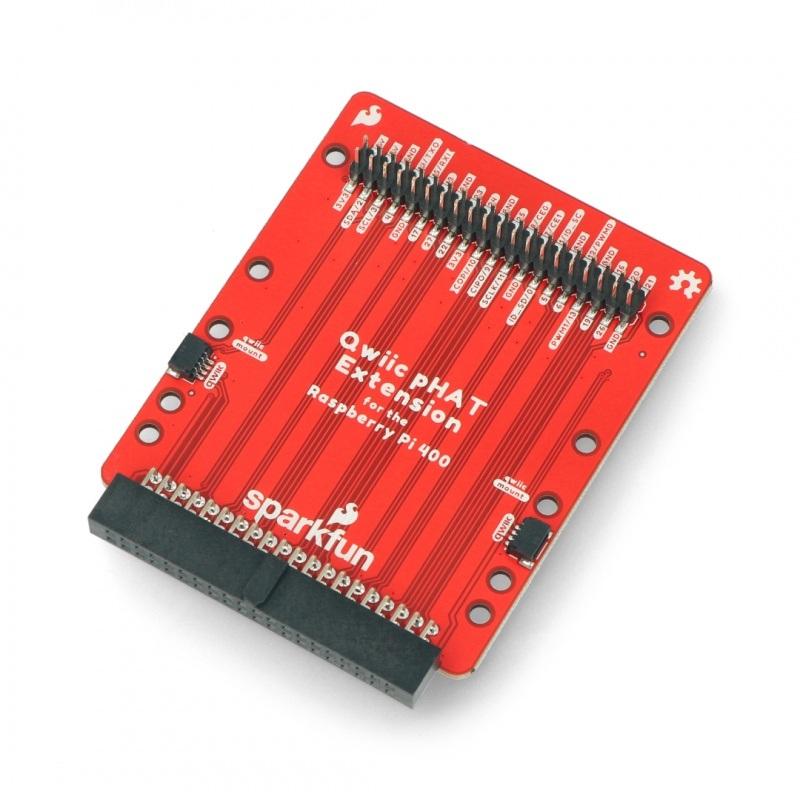 Qwiic pHAT rozszerzenie do Raspberry Pi 400 - SparkFun DEV-17512