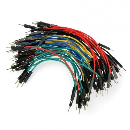 Przewody połączeniowe męsko-męskie 10cm kolorowe - 50szt.