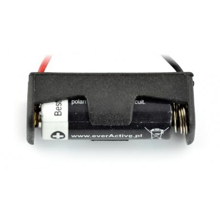 Koszyk na 1 baterię typu A23 (12V) z przewodami