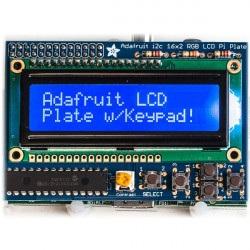 Niebieski negatyw 2x16 LCD + klawiatura Kit dla Raspberry Pi -