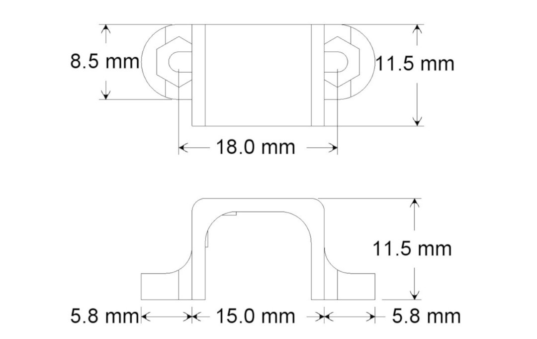 Wymiary mocowania do silników Pololu