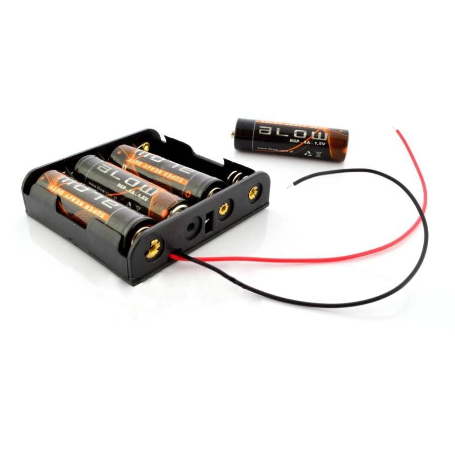 Koszyk na 4 baterie AA