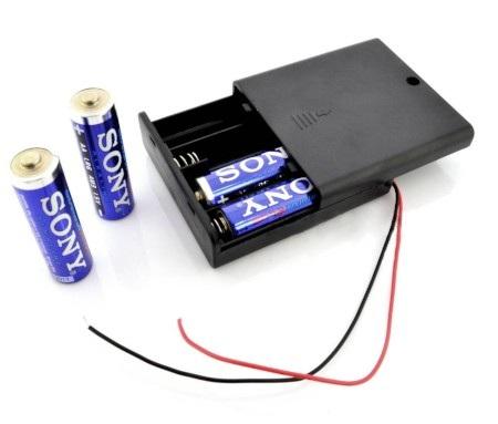 Koszyk baterie 4 AA