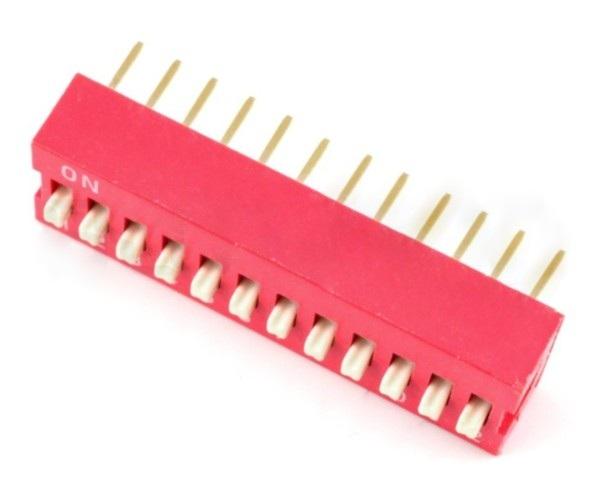 DIP switch 12-polowy