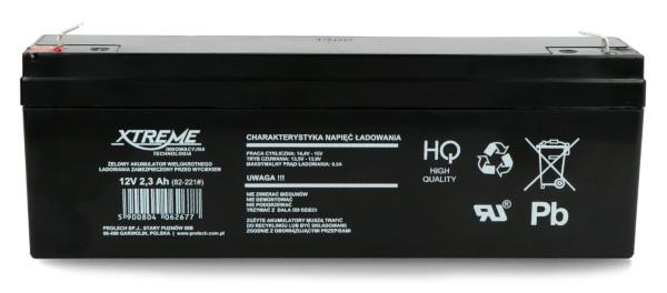 Akumulator żelowy 12V 2,3 Ah Extreme