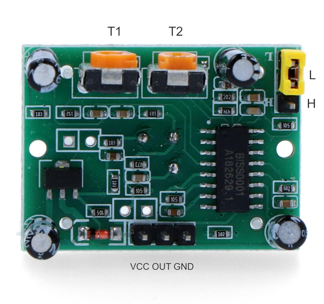 Czujnik ruchu PIR HC-SR501 - wyprowadzenia