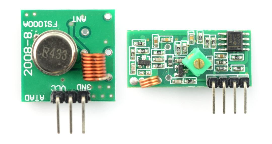 Moduł radiowy nadajnik FS100A + odbiornik 433 MHz