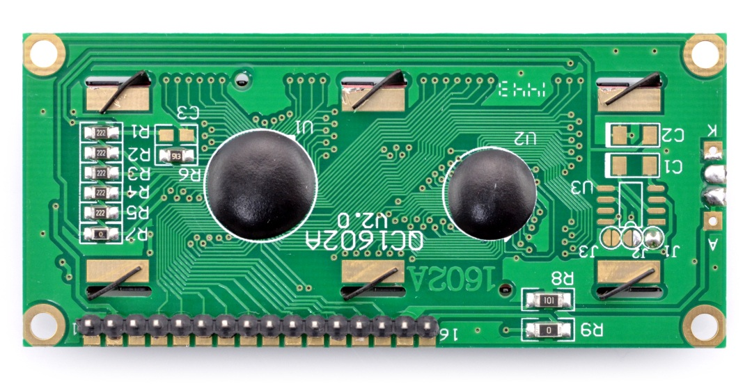 Wyświetlacz LCD 2x16 - zielony ze złączami