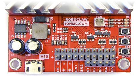 RoboClaw 2x15A USB - dwukanałowy sterownik silników 34V / 45A