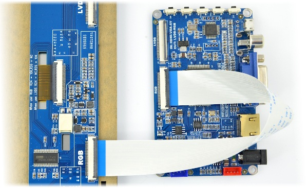 Ekran dotykowy pojemnościowy LCD TFT 10,1'' 1024x600px dla Raspberry Pi 3/2/B+