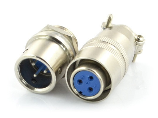 Złącze przemysłowe ZP2 z szybkozłączem - 3-pinowe.