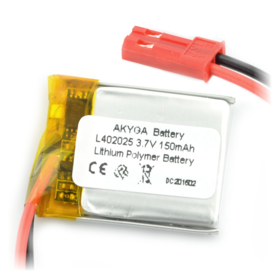 Akumulator Li-Pol Akyga 85mAh 1S 3,7V - złącze JST-BEC + gniazdo