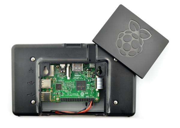 Obudowa na ekran Raspberry Pi - czarna