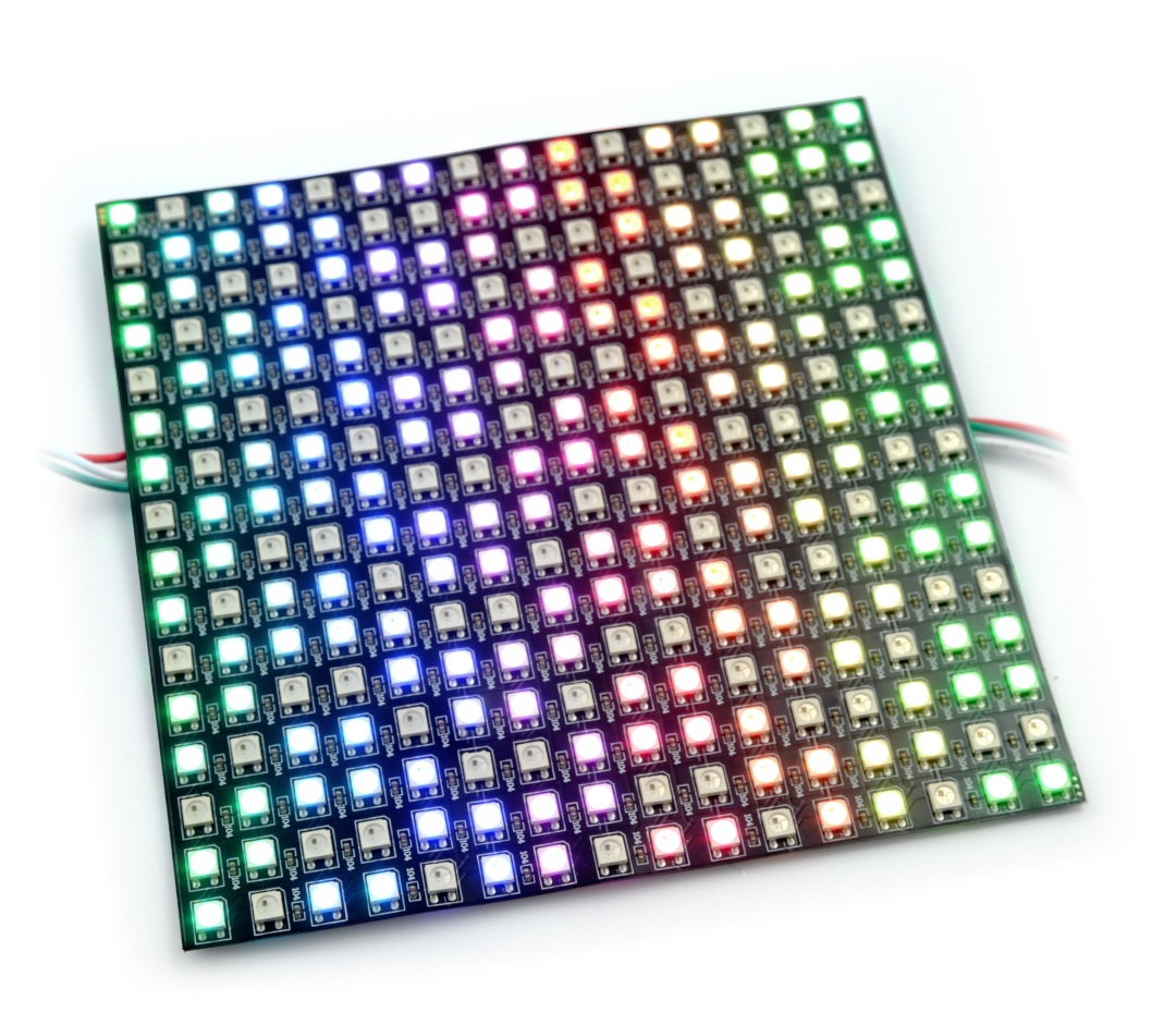 Elastyczna matryca 16x16 - 256 LED RGB - WS2812B indywidualnie adresowane