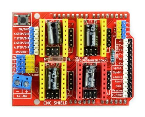 CNC Shield - sterownik drukarki 3D - nakładka dla Arduino