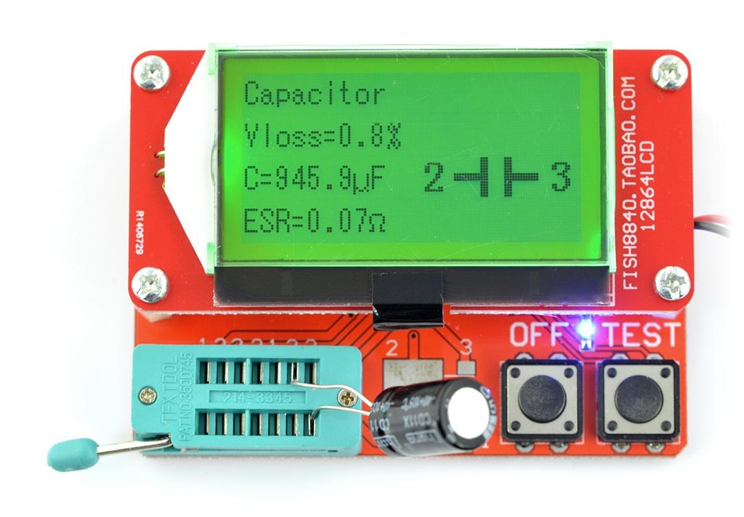 Zestaw do testowania, tester elementów elektronicznych THT i SMD - BTE-057