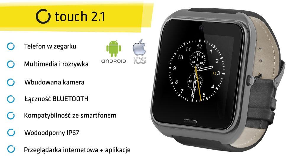 SmartWatch Touch 2.1 - inteligetny zegarek z funkcją telefonu