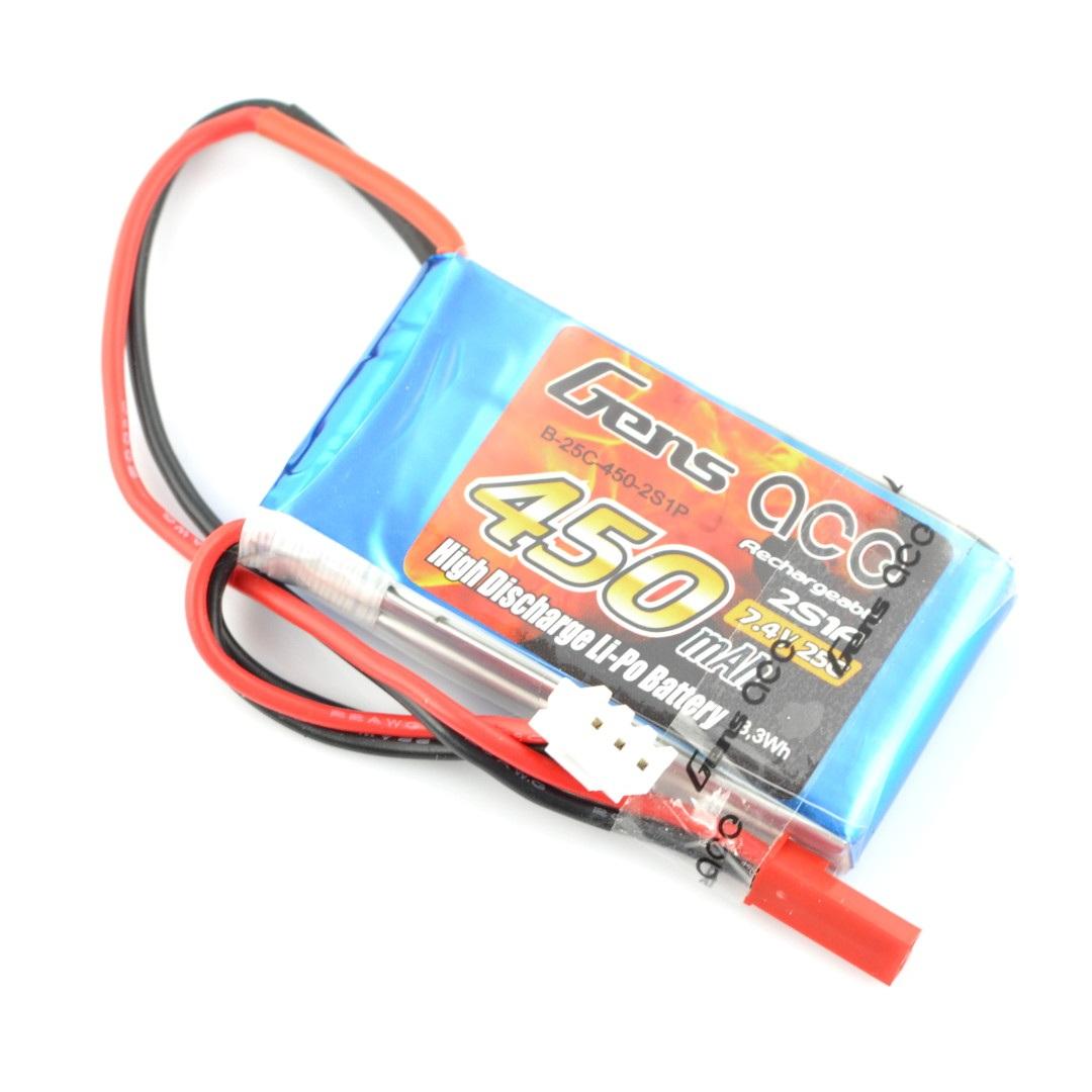 Pakiet Li-Pol Gens Ace 450mAh 25C 2S 7,4V