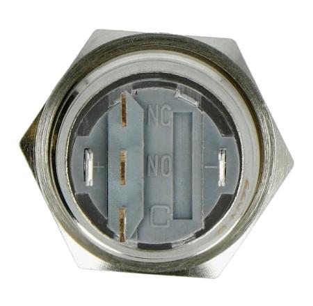 Przełącznik ON-OFF monostabilny, płaski, niebieski, 220V