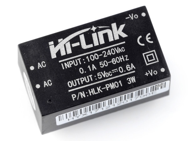 Zasilacz Hi-Link HLK-PM01 100V-240VAC / 5VDC - 0,6A