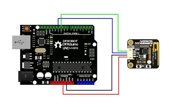Schemat podłączenia OBLOQ z Arduino