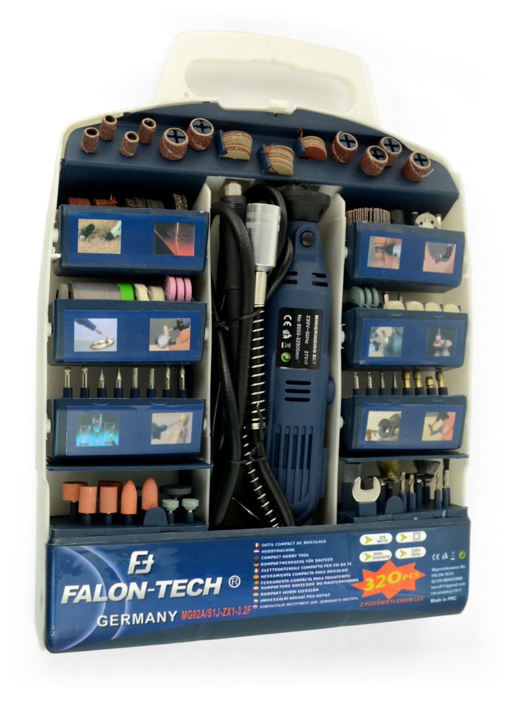 Miniwiertarka Falon Tech MG02A z akcesoriami - 320 elementów