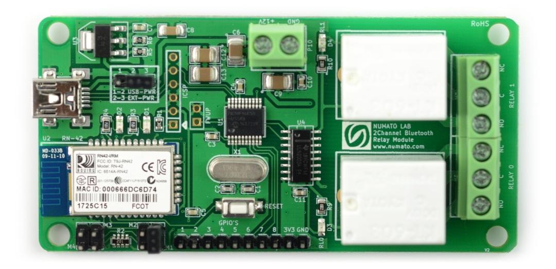 Numato Lab - 2-kanałowy moduł przekaźników - Bluetooth