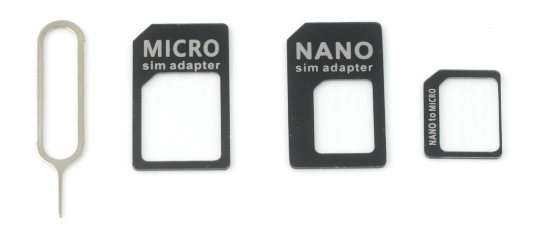Adapter kart SIM + kluczyk