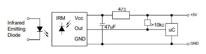 Schemat podłączenia czujnika CHQ1838