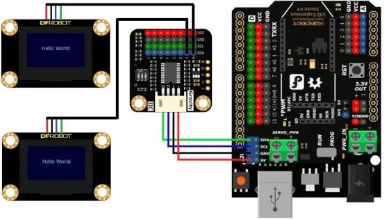 dfrobot multiplexer i2c