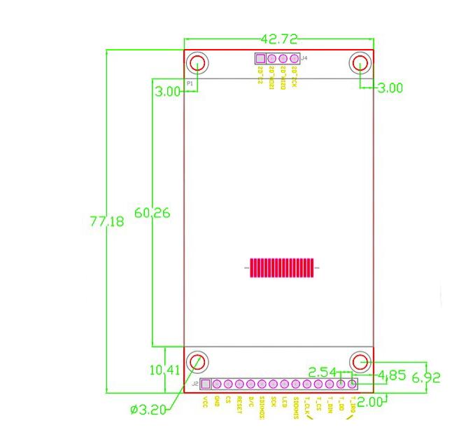 """Wyświetlacz dotykowt TFT LCD 2.4"""""""
