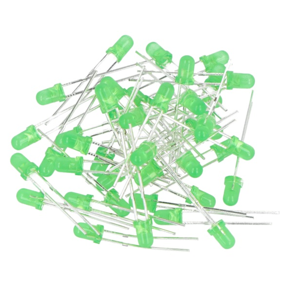 Dioda LED 3 mm zielona