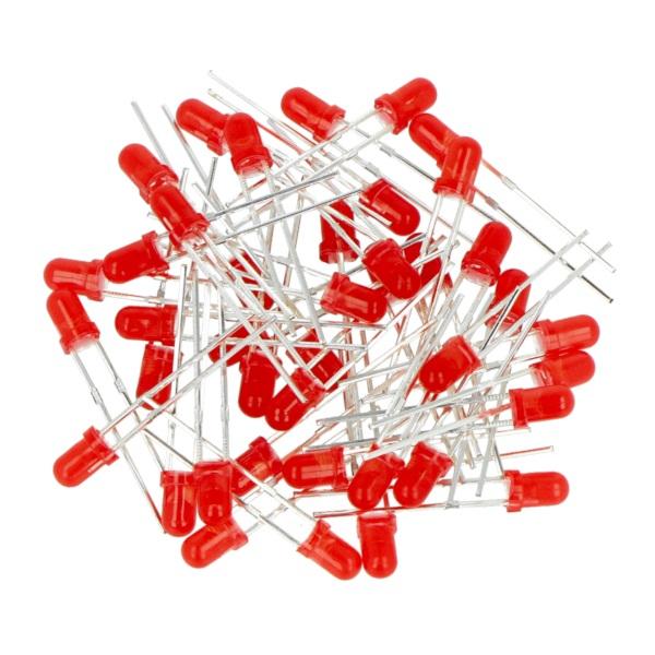 Dioda LED 3 mm czerwona