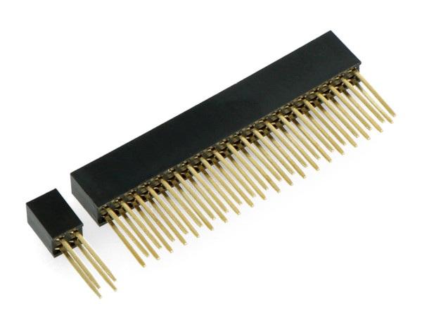 Zestaw złącz żeńskich dla Raspberry Pi 4B i PoE HAT - 2x20 i 2x2 raster 2,54mm