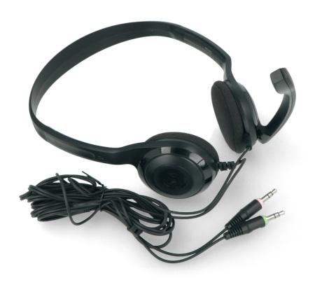 Słuchawki posiadają przewód o długości 200 cm, który umożliwia wygodne użytkowanie zestawu.