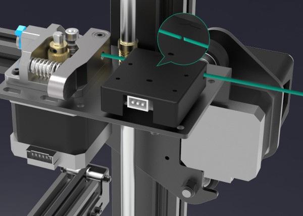 Metalowy ekstruder i sensor filamentu w Ender-3 Max