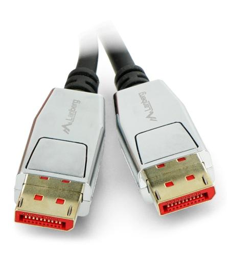 Przewód DisplayPort męski 20pin v1.4 8K Lanberg czarny - 1m