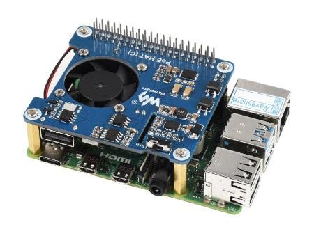 Przedmiotem sprzedaży jest nakładka Power over Ethernet HAT (C), minikomputerRaspberry Pinależy nabyć osobno.