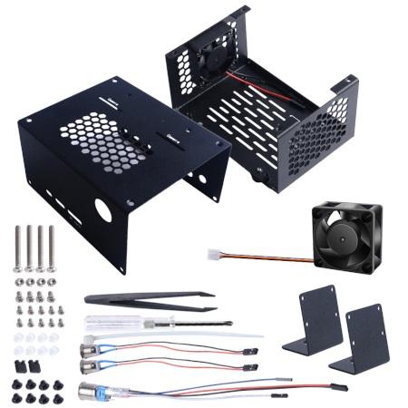 W skład zestawu wchodzą także niezbędne elementy montażowe oraz pęseta.